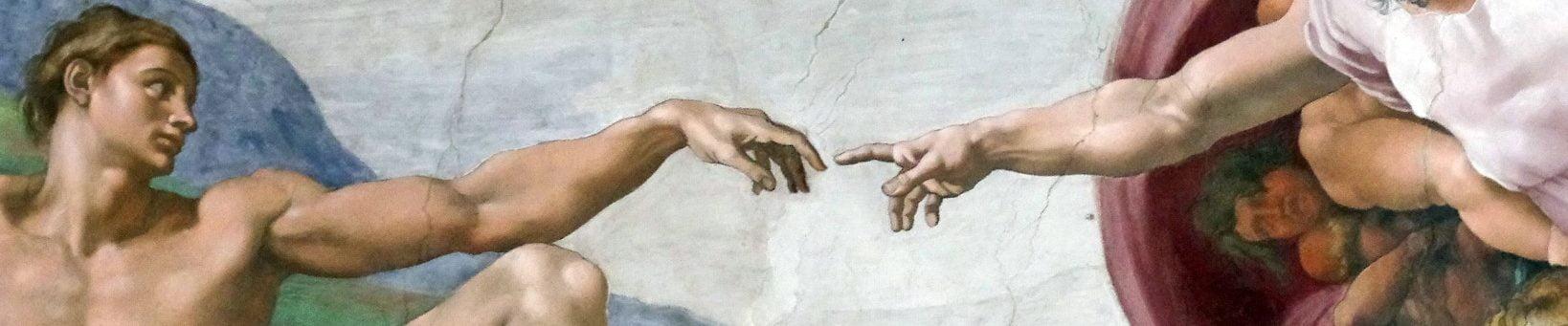 Image : Michel-Ange Création d'Adam.