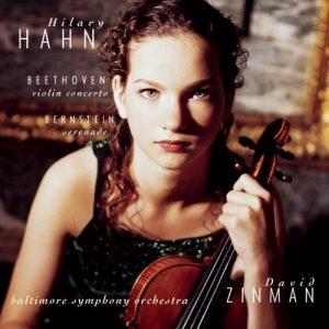Pochette du cd Hilary Hahn dans le concerto de Beethoven