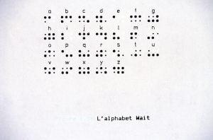 Représentation de l'alphabet Wait