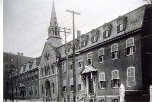Photo de l'Institut Nazareth rue Sainte-Catherine à Montréal