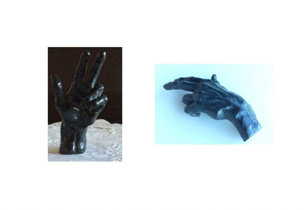 2 vues différentes de la même main