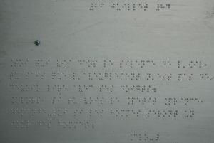 Photo du second texte du 3e panneau inspiré du Petit Prince