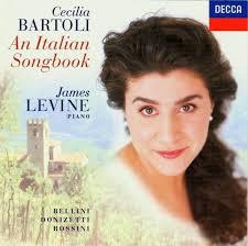 CD An Italian Songbook, Cecilia Bartoli et James Levine au piano. Decca 1997